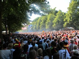 Public Viewing of soccer games